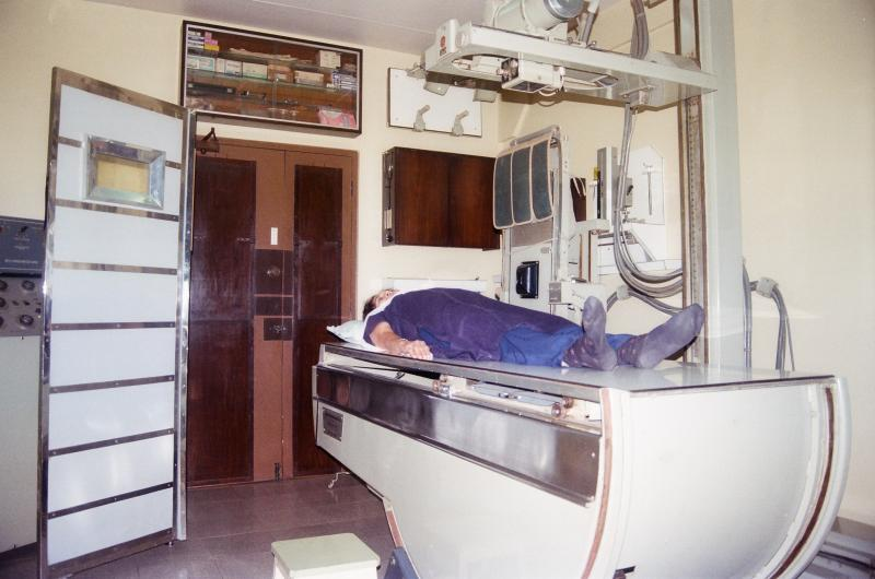 Dr.Chandan's X-ray Clinic X-ray Room with Patient